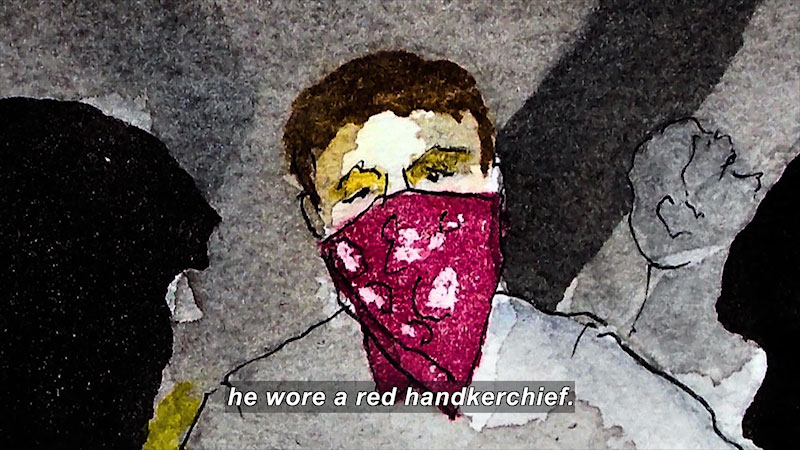 Still image from: Man In Red Bandana: The True Story of Welles Remy Crowther