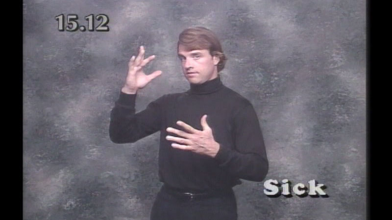 Still image from Beginning ASL Videocourse #15: Review And Practice Sessions (Lessons 11-14)