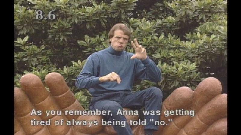 Still image from Beginning ASL Videocourse #8: School Daze: The Sequel