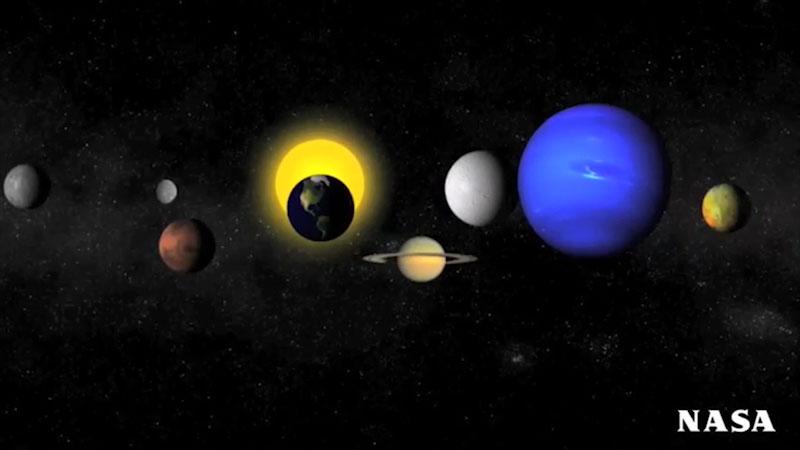 An illustration of solar system.