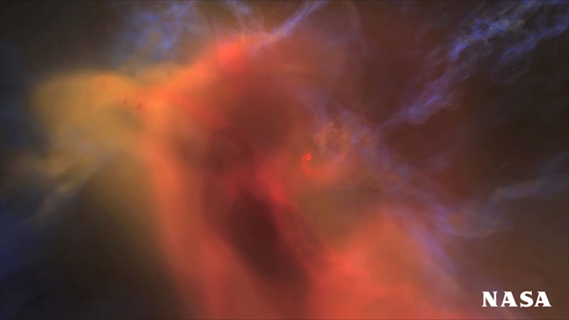 An illustration of a giant cloud of gas.