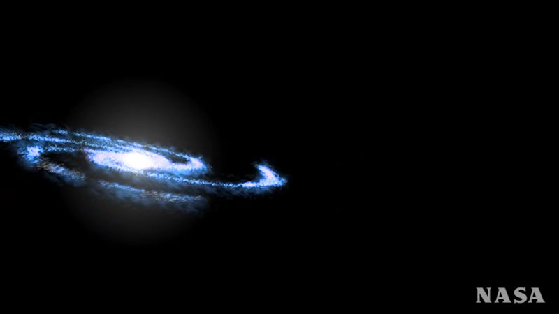 An illustration of a galaxy.