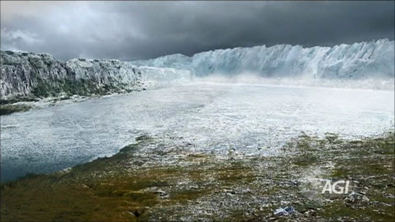 A photo of a glacier.