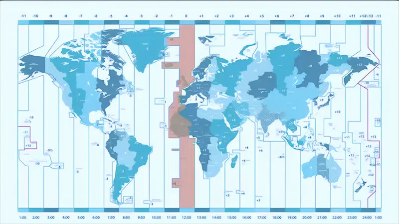 Still image from Earth Science: Time Zones  (Module 2, Topic 12)