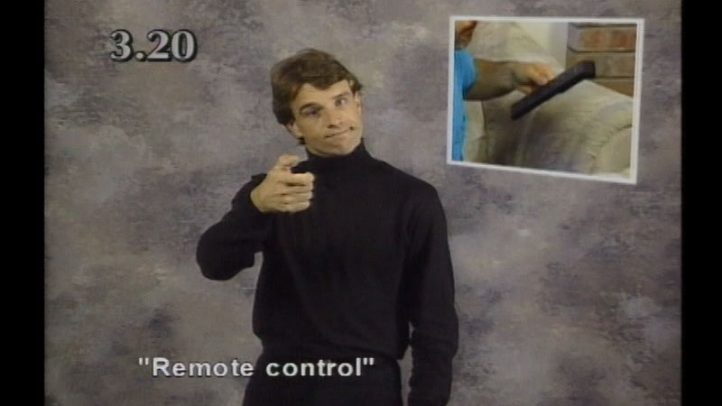Still image from Beginning ASL Videocourse #3: Where's The TV Remote?