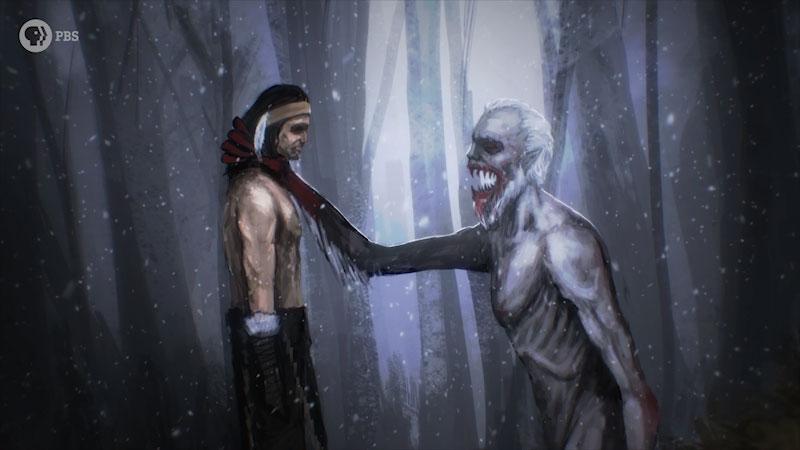 Still image from: Monstrum: Windigo--The Flesh-Eating Monster of Native American Legend