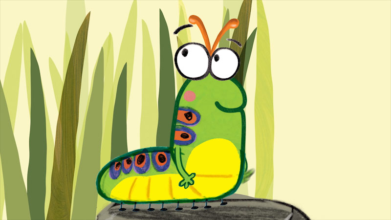 Still image from: The Very Impatient Caterpillar