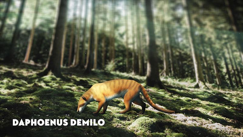 An illustration of a Daphoenus Demilo.