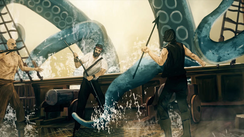 Still image from: Monstrum: Release the Kraken! Origins of the Legendary Sea Monster