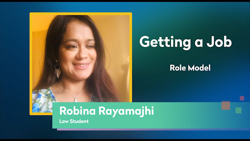 Still image from: Getting a Job! for Students Who Are Blind and Visually Impaired: Role Model: Robina Rayamajhi