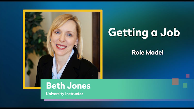 Still image from: Getting a Job! for Students Who Are Blind and Visually Impaired: Role Model: Beth Jones