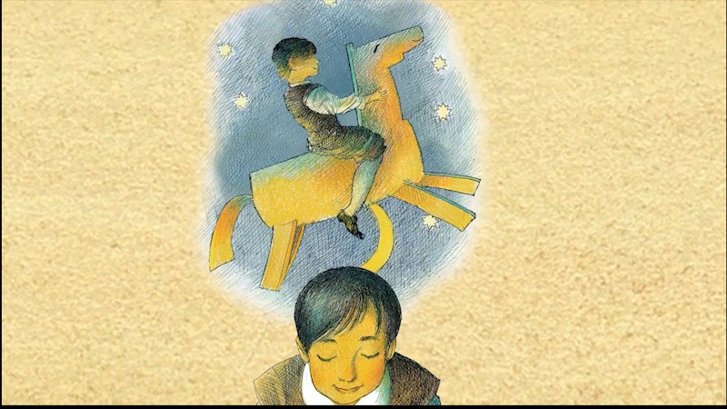 Still image from: Miguel's Brave Knight: Young Cervantes and His Dream of Don Quixote