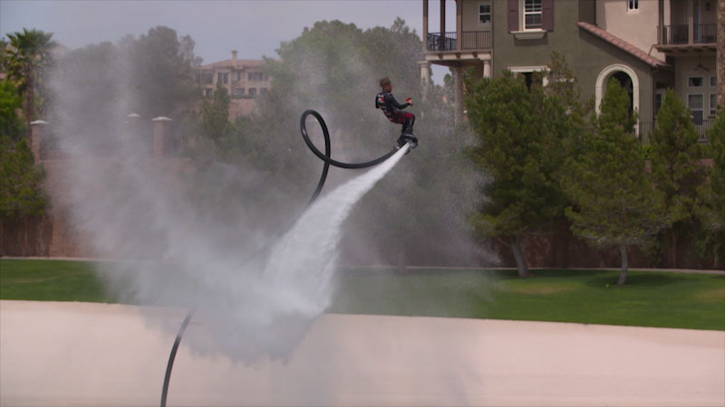 Still image from The Henry Ford's Innovation Nation With Mo Rocca: Flyboard Air