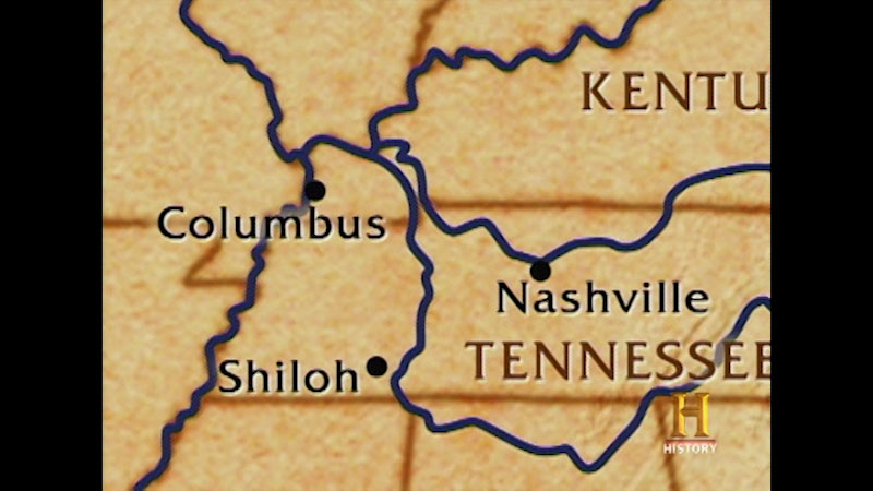 Still image from The Unknown Civil War--Shiloh Part One: The Tennessee River Campaign