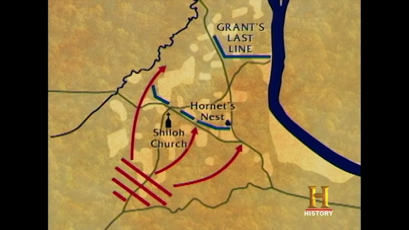 Still image from The Unknown Civil War--Shiloh Part Two: The Battle of Pittsburg Landing