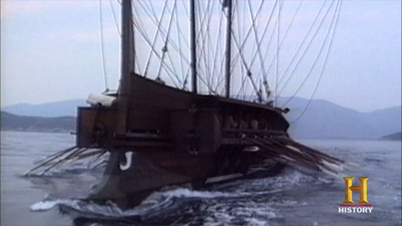 Still image from: Where Did It Come From? Ancient Greece: Modern Ship Building