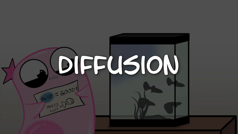Still image from The Amoeba Sisters: Diffusion