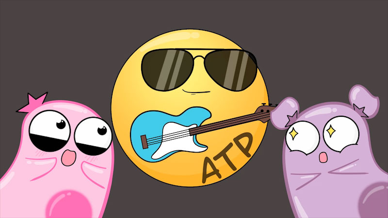 Still image from The Amoeba Sisters: What Is ATP?