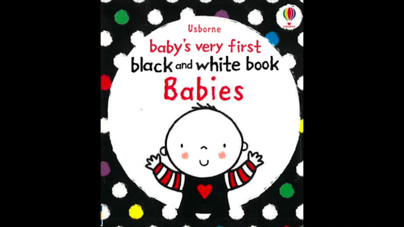 Still image from: Baby's Very First Black and White Book: Babies