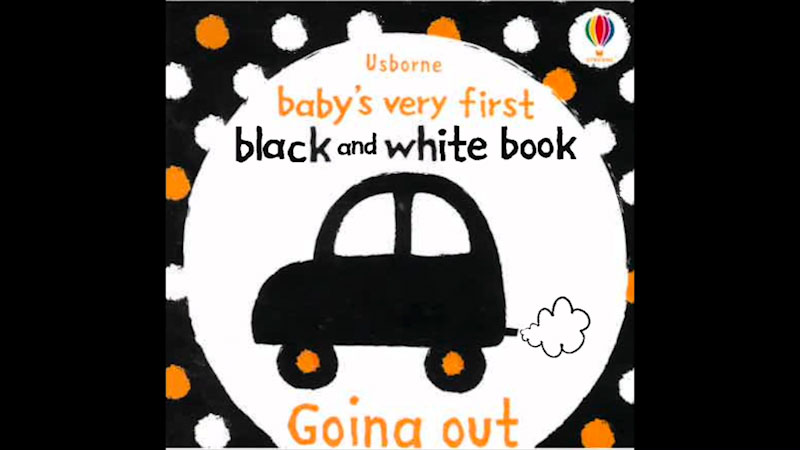 Still image from: Baby's Very First Black and White Book: Going Out