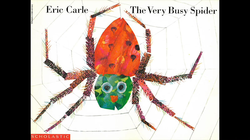 Still image from: The Very Busy Spider