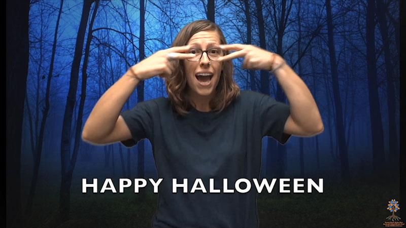 Still image from: Halloween ASL Vocabulary
