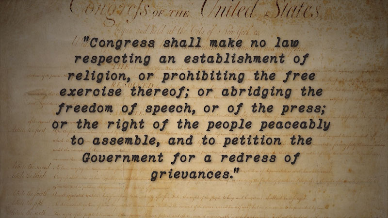 Still image from Politics on Point: First Amendment