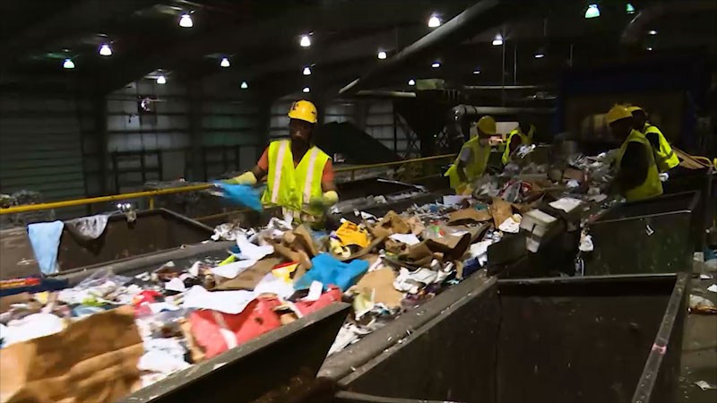 Still image from: Spot on Science: Recycling Center