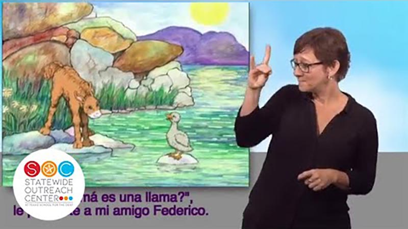 Still image from: Is Your Mama a Llama? (Spanish)