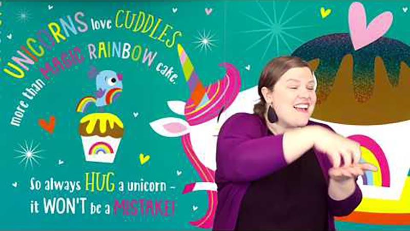Still image from: Always Hug a Unicorn