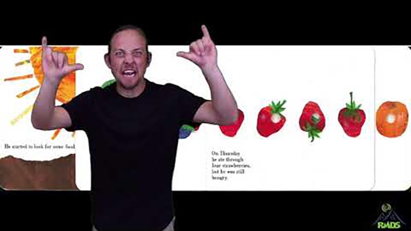 Still image from: The Very Hungry Caterpillar