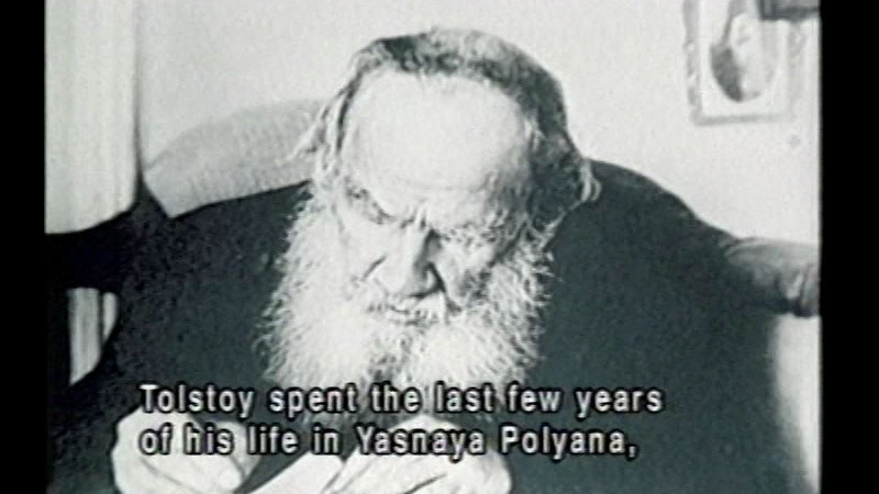 Still image from Leo Tolstoy