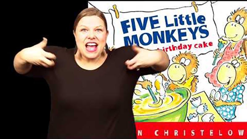 Still image from: Five Little Monkeys Bake a Birthday Cake