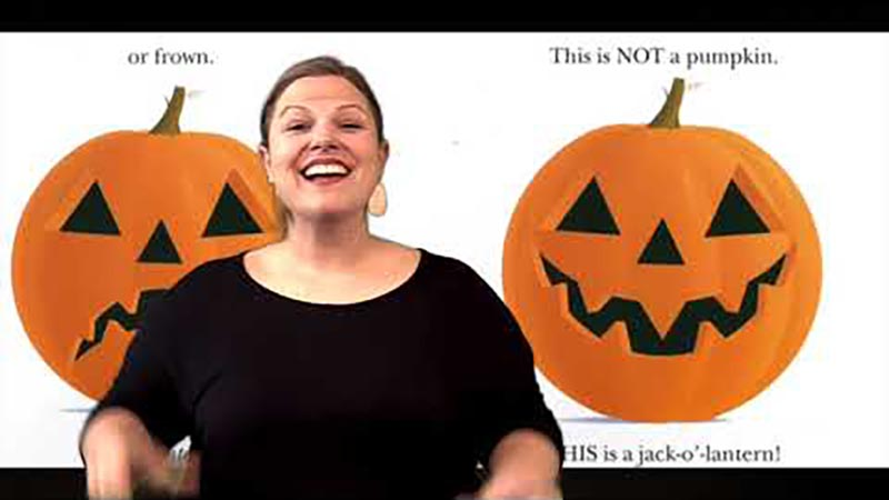 Still image from: This Is NOT a Pumpkin