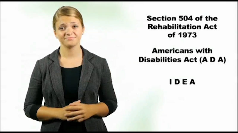 Still image from Map It: What Comes Next? How the ADA and Section 504 Affect You