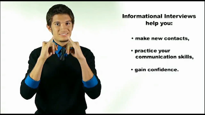 Still image from: Map It: What Comes Next? Preparing for an Informational Interview