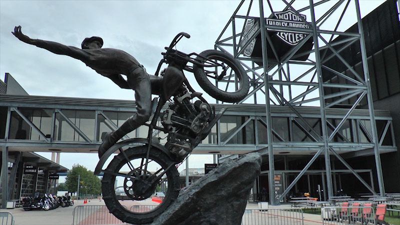 Still image from: Museum Access: Harley-Davidson Museum