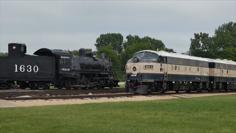 Still image from Museum Access: Illinois Railway Museum