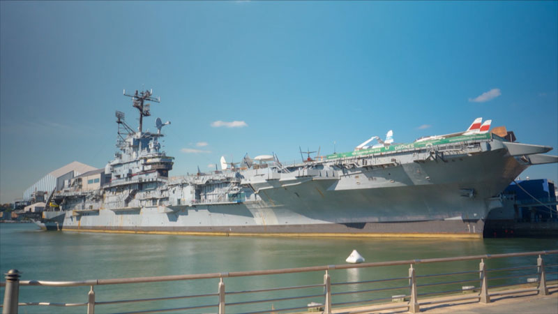 Still image from: Museum Access: The Intrepid Museum