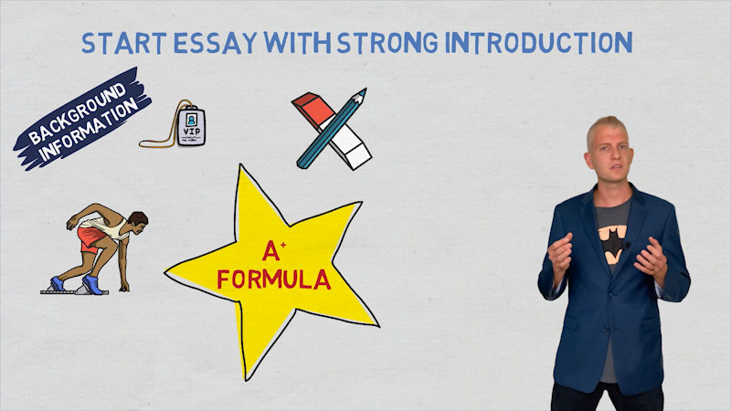 Still image from: How to Start an Essay: Add Background Information to Write a Strong Introduction