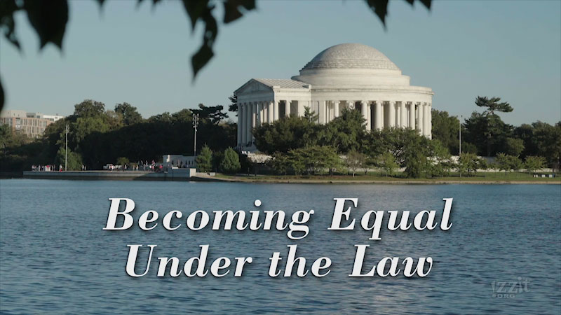 Still image from: Becoming Equal Under the Law