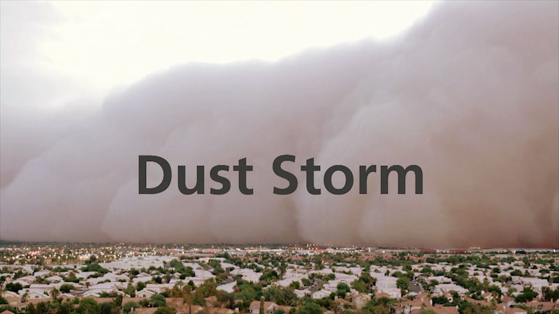 Still image from: Dust Storm