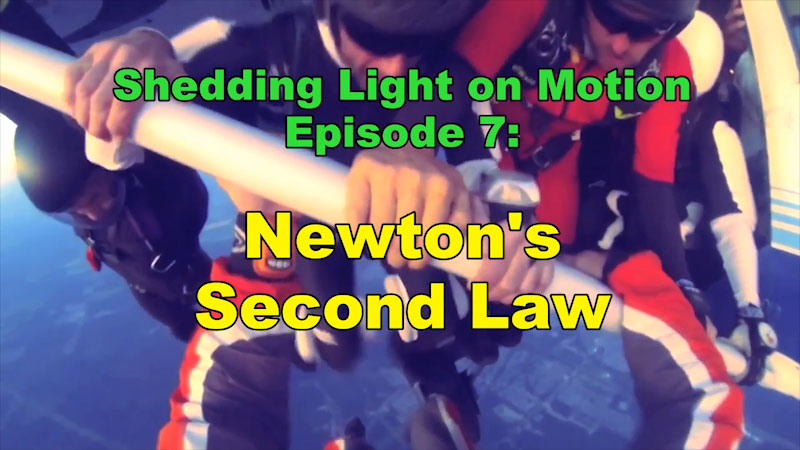 Still image from: Shedding Light on Motion: Newton's Second Law (Episode 7)
