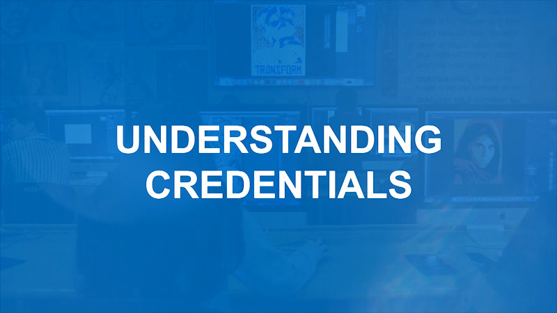 Still image from: Finding Your Pathway for Parents: Understanding Credentials