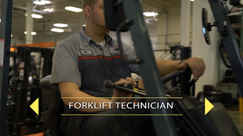 Still image from: Finding Your Pathway for Students: Forklift Mechanic