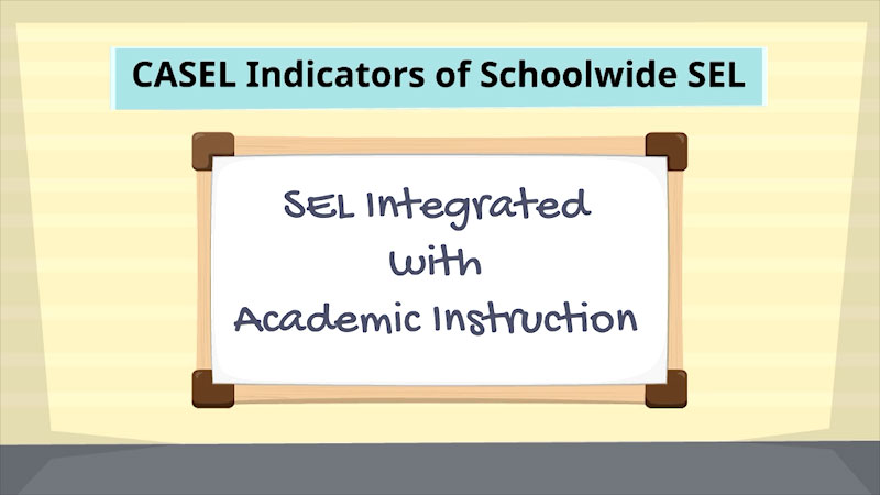 Still image from: CASEL Indicators of Schoolwide Social-Emotional Learning: Integrated With Academic Instruction
