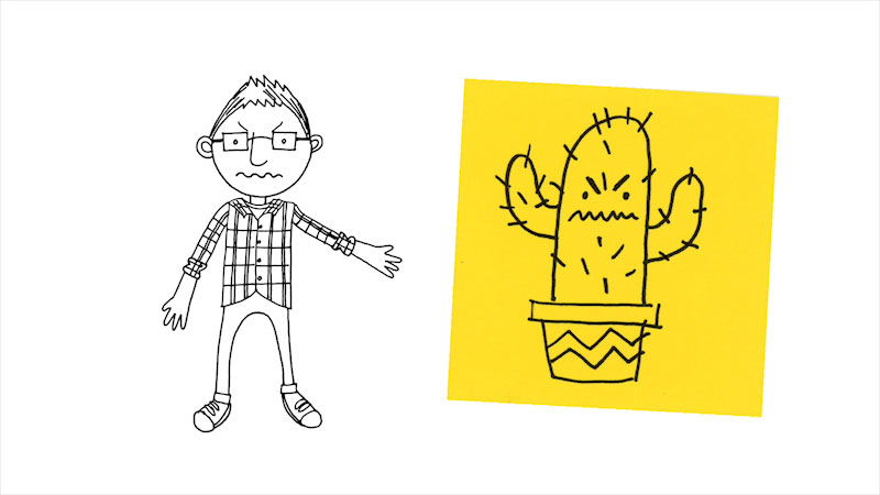 Still image from: Drawing With Mr. J: Prickly