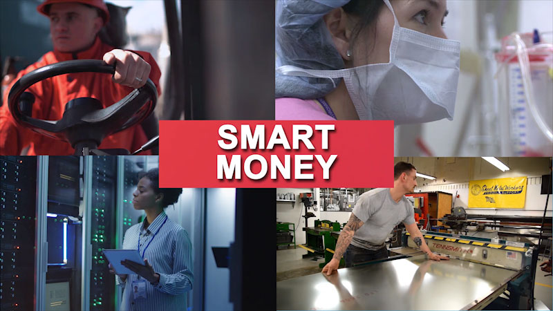 Still image from: Getting to Work: Smart Money