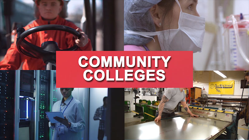 Still image from: Getting to Work: Community Colleges