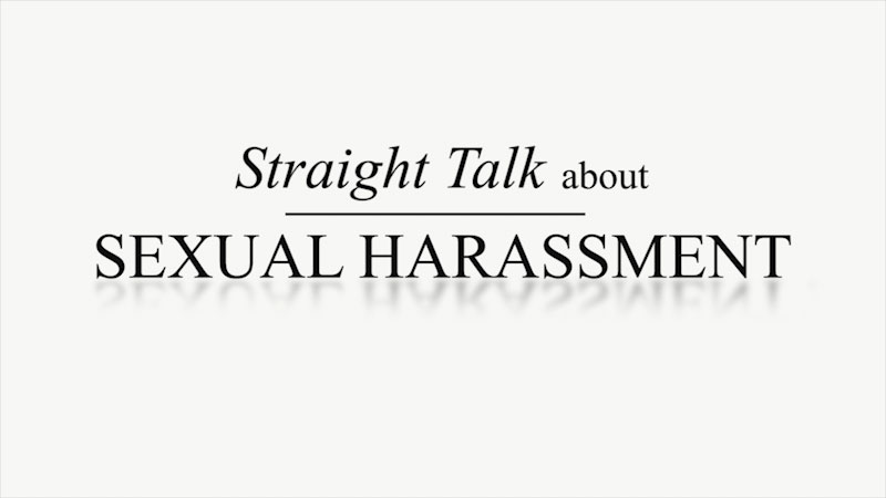 Still image from: Straight Talk About Sexual Harassment